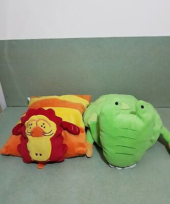 Childrens Turtle & Lion Animal Pillows Cushions FREE POSTAGE