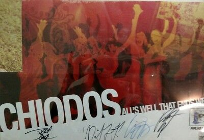 Chiodos Signed Autographed Full Band Poster