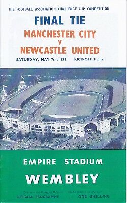 Programme 1955 FA Cup Final. Man City v Newcastle Utd