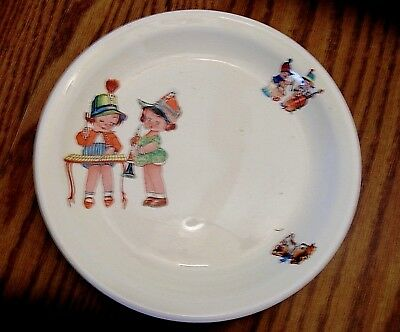 Canonsburg Pottery Co. Music Time Vintage Childs Porcelain Dish Plate 1950's