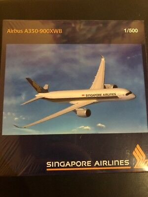 Herpa Wings Singapore Airlines A350-900XWB 9V-SMA 1:500