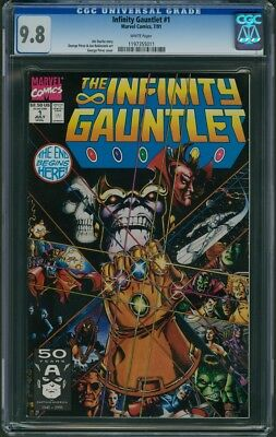 Infinity Gauntlet #1 CGC 9.8 - White Pages (1st in Limited Series) Thanos