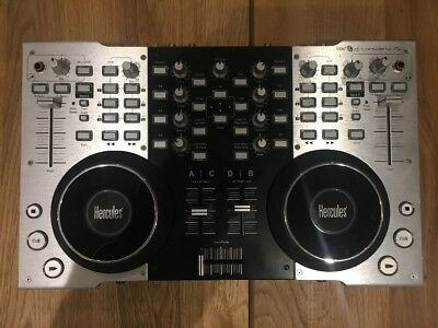 Hercules Dj Console 4-Mx, Midi Dj Controller, Black And Stainless Steel