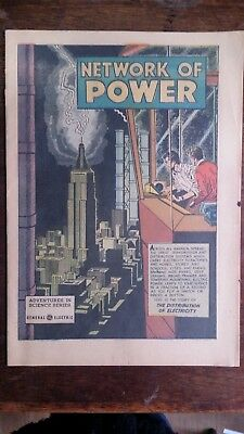 Network Of Power Adventures in Science series comic 1953