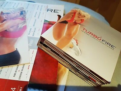 Shape Up for Spring/Summer BEACHBODY TURBO FIRE 11 DVDs12 Workouts RRP £65+ !