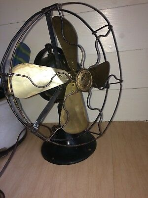 Vintage GE General Electric Whiz 4 Brass Blade Fan; Parts Or Restore