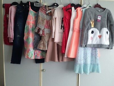 Girls Clothing Bundle 13 Items River Island Etc Age 7-8-9 Years