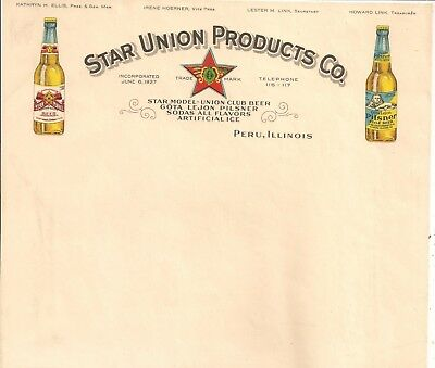 Letterhead -  Star Union Products Co. , Peru , Illinois