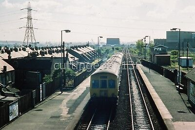 Original Kodachrome Slide: DMU at Percy Main From East 17/05/1977          3/836