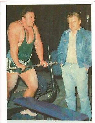 Strongman Powerlifting/Weightlifter Bill Kazmaier Strong Man Muscle Photo Color