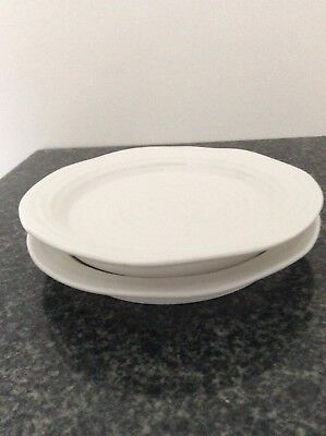2 Sophie Conran for Portmeirion White Porcelain 15cm Tea Plates