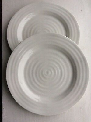 2 Sophie Conran for Portmeirion White Porcelain 28cm Dinner Plates.