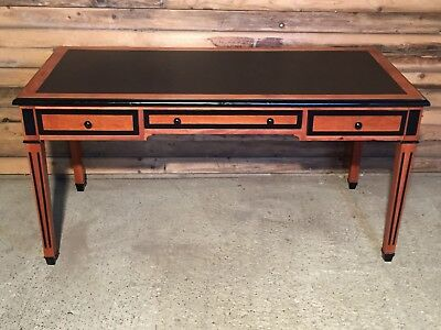 Ex Showroom Vintage Style Maple Desk with Inset Black Writing surface