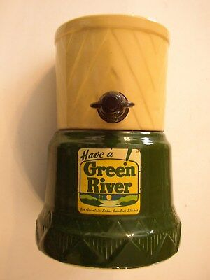 1950's Green River Syrup Dispenser Stoneware/ceramic No Chips Working Spout Vg