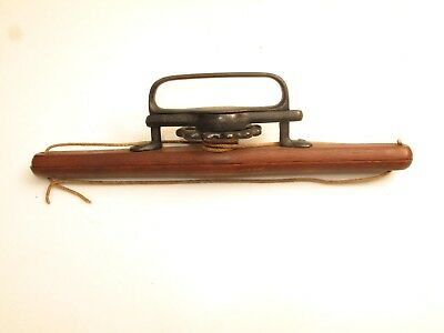 Antique Bookbinding Tool Small Paper Book Press Wood Cast Iron 1800's Clamp