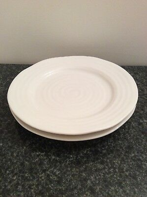 2 Sophie Conran Portmeirion White Porcelain 20cm Side Plates. Used.