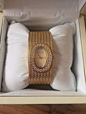 Ladies Vintage Designer Balenciaga Gold & Diamond Wrist Watch