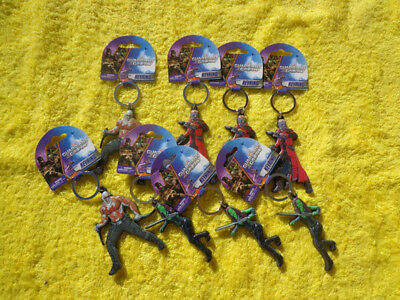 Lot of 8 Guardians of the Galaxy Keychain Star-Lord Drax Gamora Marvel comics