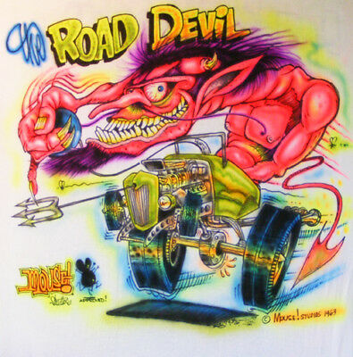 JOHNNY ACE BIG DADDY Roth Rat Fink MOUSE! MONSTER Shirt ROAD DEVIL! Hot Rod RACE