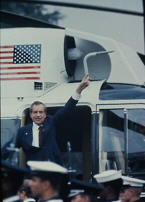 RICHARD NIXON - US President - Original Vintage 35mm COLOR Slide - 1974