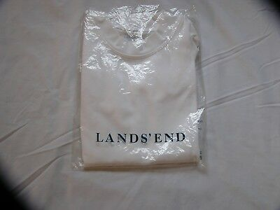 Lands End NWOT Unisex White Short Sleeved Nylon/Spandex Rashguard Size 3T