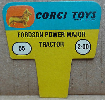 Corgi Toys original 1960s shop display point of sale card sign - Fordson tractor