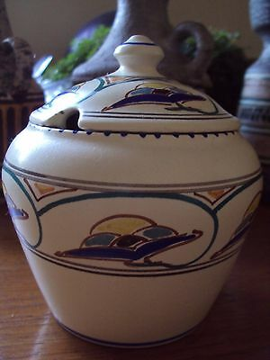 Vintage Honiton Devon Pottery Art Deco Preserve Pot - Excellent Condition