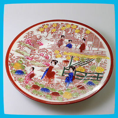 vintage antique rare Porcelain China Plate Dish Oriental Asian Chinese Marked