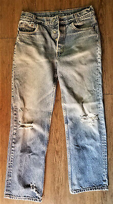 "Levi's Jeans  32"" x 31"" (28"") No Hip Label - Holes"