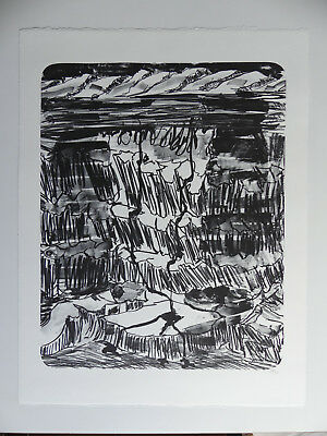Per Kirkeby, große Lithographie, 2004, signiert