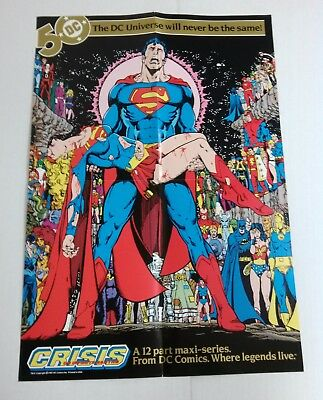 Crisis on Infnite Earths Death of Supergirl promo poster (DC 1985) George Perez