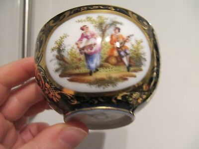 Vienna Porcelain Cobalt Blue Gilded Cup Courting Couple