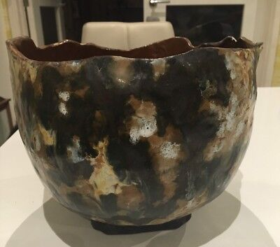 Stunning One Off Pottery Plant Pot Beautifully Painted And Glazed