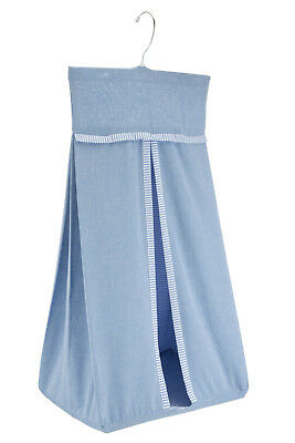 Brand New John Lewis Baby Blue Chambray Nappy Stacker