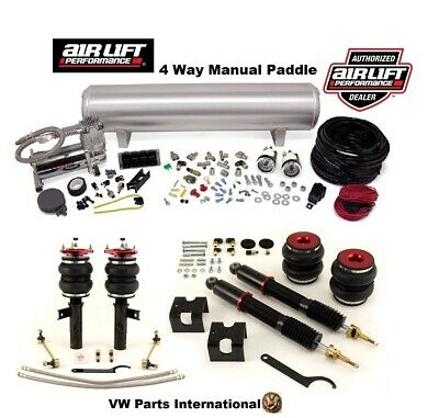 VW Scirocco Air Lift 4 Way Manual Air Ride Management + Performance Struts Kit