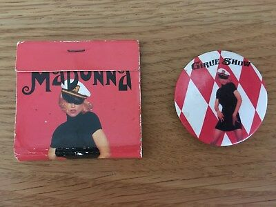 Madonna - The Girlie Show Tour - Rare Sovernir Badge And Matches