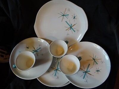 Vintage Salem North Star 10 pieces bowls small plates Mid Century Modern Atomic