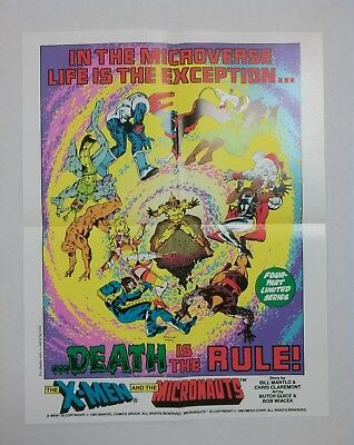 X-Men and the Micronauts promo poster (Marvel 1983) Mantlo Claremont Guice