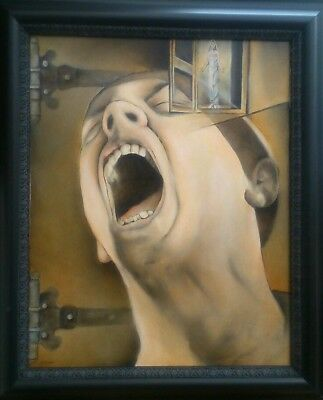 American horror fantasy listed artist Jeremy Caniglia signed oil painting USA