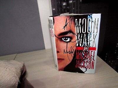 Michael Jackson Signed Book Moon Walk Coa Loa