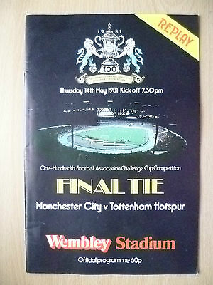 1981 FA Cup Final REPLAY- MANCHESTER CITY v TOTTENHAM HOTSPUR (Exc*)