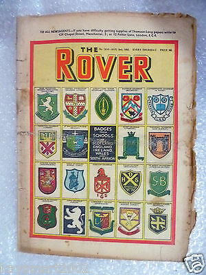 THE ROVER Comic, No.1414, 2nd Aug 1952- Badge from School.........
