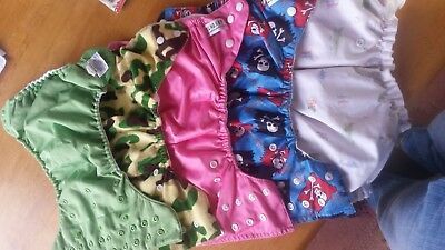 5 pocket cloth diapers of varying brands