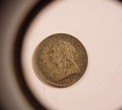 ~Great Britain~ 1901 Maundy Penny~ 1d ~Victoria~ Tiny Silver Coin