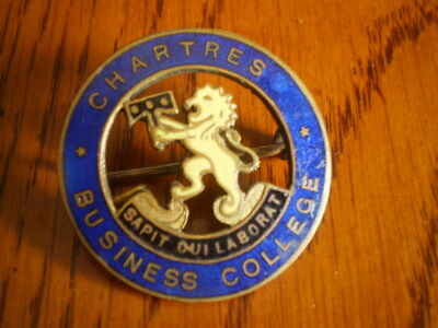 Brass & enamel South Australian Chartres Business College badge