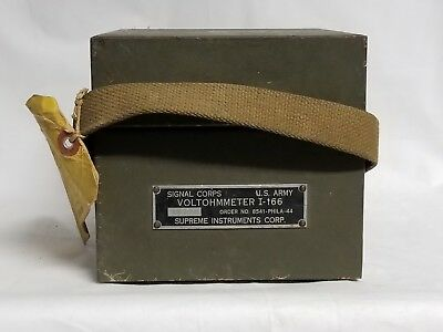 Original WWII US Army Signal Corps Voltohmmeter I-166