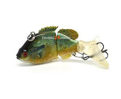 Jointed Bass Fishing Lure Swimbait Life-like Redbreast Panfish NEW