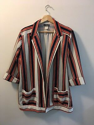 1970's Vintage Jacket Yours ASAP California Blazer Striped Poly psychedelic USA
