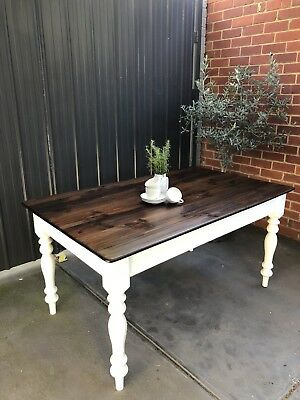 Dining table 6 Hamptons Farmhouse Coastal French Provincial vintage Timber