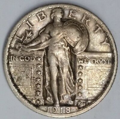 1918 Standing Liberty Quarter Coin